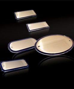 Aufschraubschild Messing mit Acrylglas
