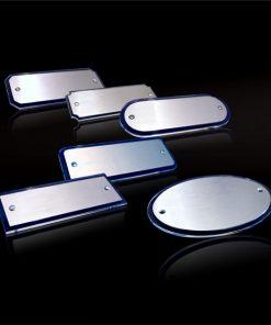 Aufschraubschild Edelstahl mit Acrylglas